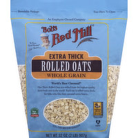 Bob's Red Mill Rolled Oats, Whole Grain, Extra Thick, 32 Ounce