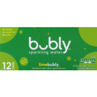 bubly Sparkling Water, Lime Bubly, 12 Each