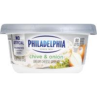 Philadelphia Cream Cheese Spread, Chive & Onion, 7.5 Ounce