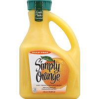 Simply Orange 100% Juice, Orange, Pure Squeezed, Pulp Free, 89 Ounce