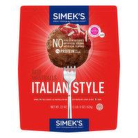 Simek's Beef Meatballs, Italian Style, 22 Ounce