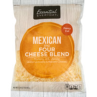 Essential Everyday Cheese Blend, Four, Mexican Style, Fancy Cut, 32 Ounce