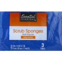 Essential Everyday Sponges, Scrub, Multi-Purpose, 3 Each
