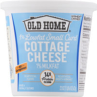 Old Home Cottage Cheese, 1% Lowfat Small Curd, 1% Milkfat, 22 Ounce