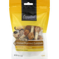 Essential Everyday Dog Snack, Chicken Flavored Dumbbells, 4 Ounce