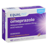 Equaline Omeprazole, 20 mg, Delayed Release Tablets, 14 Each