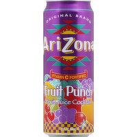 AriZona Fruit Juice Cocktail, Fruit Punch, 23 Ounce
