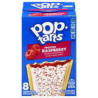 Pop Tarts Toaster Pastries, Frosted, Raspberry, 8 Each