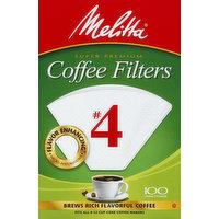 Melitta Coffee Filters, Super Premium, No. 4, 100 Each