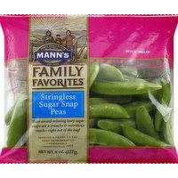 Mann's Sugar Snap Peas, Stringless, 8 Ounce