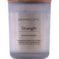 Aromascape Candle, Geranium Oakmoss, Strength, 1 Each