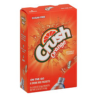 Crush Drink Mix Packets, Sugar Free, Orange, On The Go, 6 Each