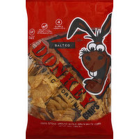 Donkey Chips Tortilla Chips, Authentic, Salted, 14 Ounce
