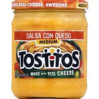 Tostitos Salsa Con Queso, Medium, 15 Ounce