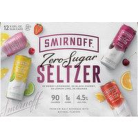 Smirnoff Hard Seltzer, Zero Sugar, Assorted, 12 Each