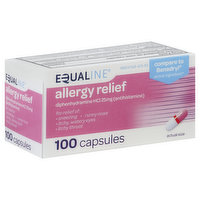 Equaline Allergy Relief, 25 mg, Capsules, 100 Each