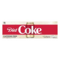 Diet Coke Cola, Caffeine Free, Fridge Pack, 12 Each