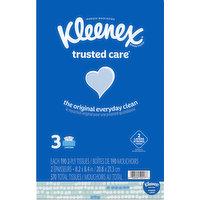 Kleenex Tissues, 2-Ply, 3 Pack, 3 Each
