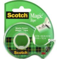 Scotch Magic Tape, Matte Finish, 1 Each