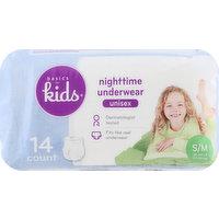 Basics For Kids Nighttime Underwear, Small/Medium (38-65 lb), Unisex, 14 Each