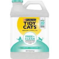 Tidy Cats Clumping Litter, Multi-Cat, Unscented, 20 Pound