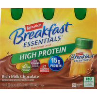 Carnation Nutritional Drink, High Protein, Rich Milk Chocolate, 6 Pack, 6 Each