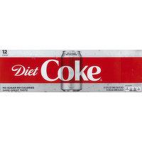 Diet Coke Cola, Diet, Fridge Pack, 12 Each
