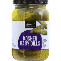 Essential Everyday Kosher Dill, Baby, 16 Ounce