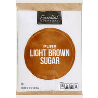 Essential Everyday Sugar, Light Brown, Pure, 32 Ounce
