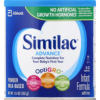 Similac Infant Formula, with Iron, 0-12 Months, 12.4 Ounce