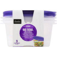 Essential Everyday Reusable Containers, Big Bowl, 48 Fluid Ounce, 3 Each