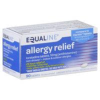 Equaline Allergy Relief, 10 mg, Original Prescription Strength, Tablets, 90 Each