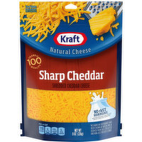 Kraft Shredded Cheese, Sharp Cheddar, 8 Ounce
