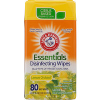 Arm & Hammer Disinfecting Wipes, Lemon Orchard, 80 Each