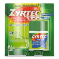 Zyrtec Allergy, Original Prescription Strength, 10 mg, Tablets, 30 Each