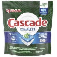 Cascade Complete ActionPacs Dishwater Detergent, 9.4 Ounce