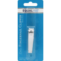 Equaline Fingernail Clipper, Deluxe, with File, 1 Each