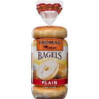 Thomas' Bagels, Plain, Pre-Sliced, 6 Each