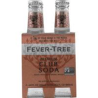 Fever Tree Club Soda, Premium, 4 Pack, 4 Each
