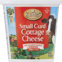 Kemps Cottage Cheese, Small Curd, 4% Milkfat Min, 22 Ounce