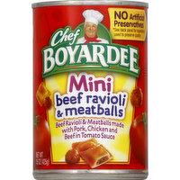 Chef Boyardee Beef Ravioli & Meatballs, Mini, 15 Ounce