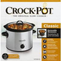 Crock-Pot Slow Cooker, 3 Quart Round, Classic, 1 Each