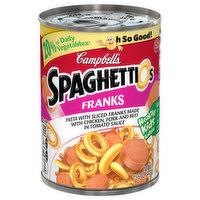 Campbell's Spaghettios, Franks, 15.6 Ounce