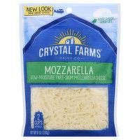 Crystal Farms Cheese, Mozzarella, 8 Ounce