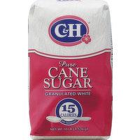 C&H Sugar, Pure Cane, Granulated White, 10 Pound