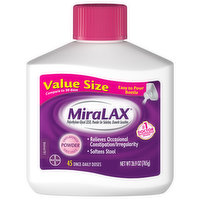 MiraLAX Osmotic Laxative, Grit Free, Powder, Value Size, 26.9 Ounce