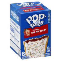 Pop Tarts Toaster Pastries, Frosted Strawberry, 8 Each
