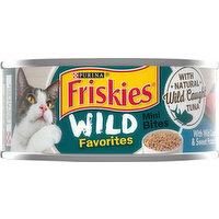 Friskies Cat Food, with Wild Caught Tuna & Sweet Potato in Sauce, Mini Bites, 5.5 Ounce