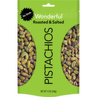 Wonderful Pistachios, No Shells, Roasted & Salted, 12 Ounce