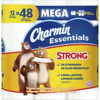 Charmin Bathroom Tissue, Mega Roll, Strong, 1-Ply, 12 Each